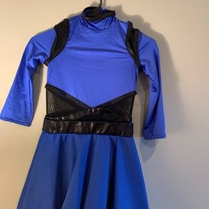 Weissman Royal Blue & Black Dance Costume